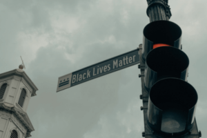 "Street sign that says ""Black Lives Matter"""