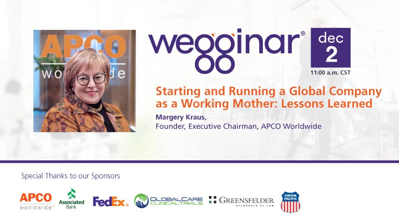 wegginar with Margery Kraus on Dec 2